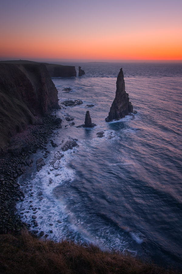 Impressive sea stack at Duncansby Head; Scotland