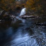 Falls of Falloch waterfall in Scotland