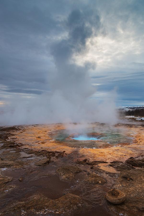 Gejzer Strokkur, Islandia
