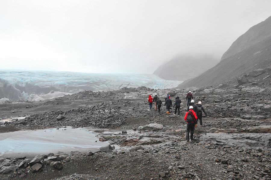 W drodze do jaskini lodowej, Islandia