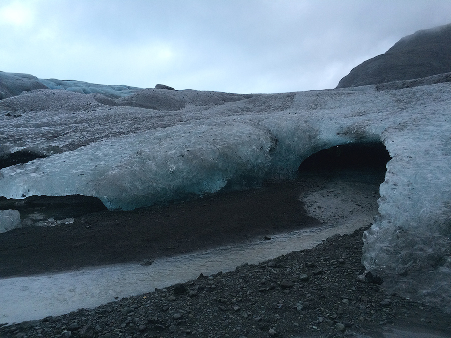 Wejście do jaskini lodowej, Islandia