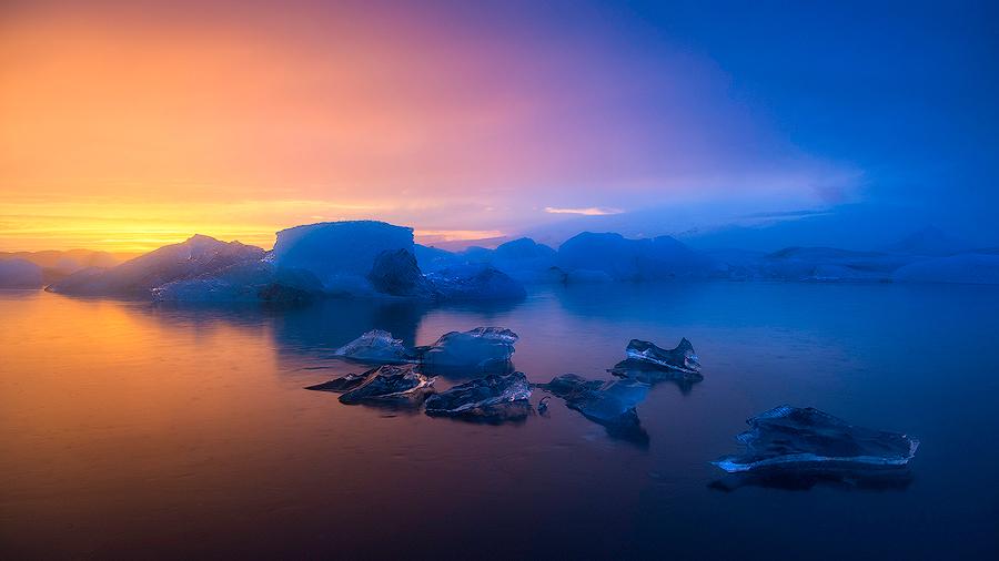 Laguna lodowcowa Jökulsárlón; Islandia