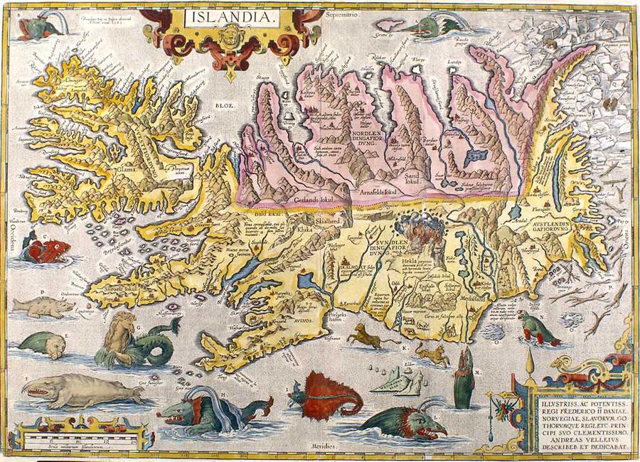 Islandia mapa Ultima Thule