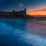 Sunset above Dunure Castle