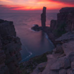 Sunset above The Old Man of Hoy; Orkney
