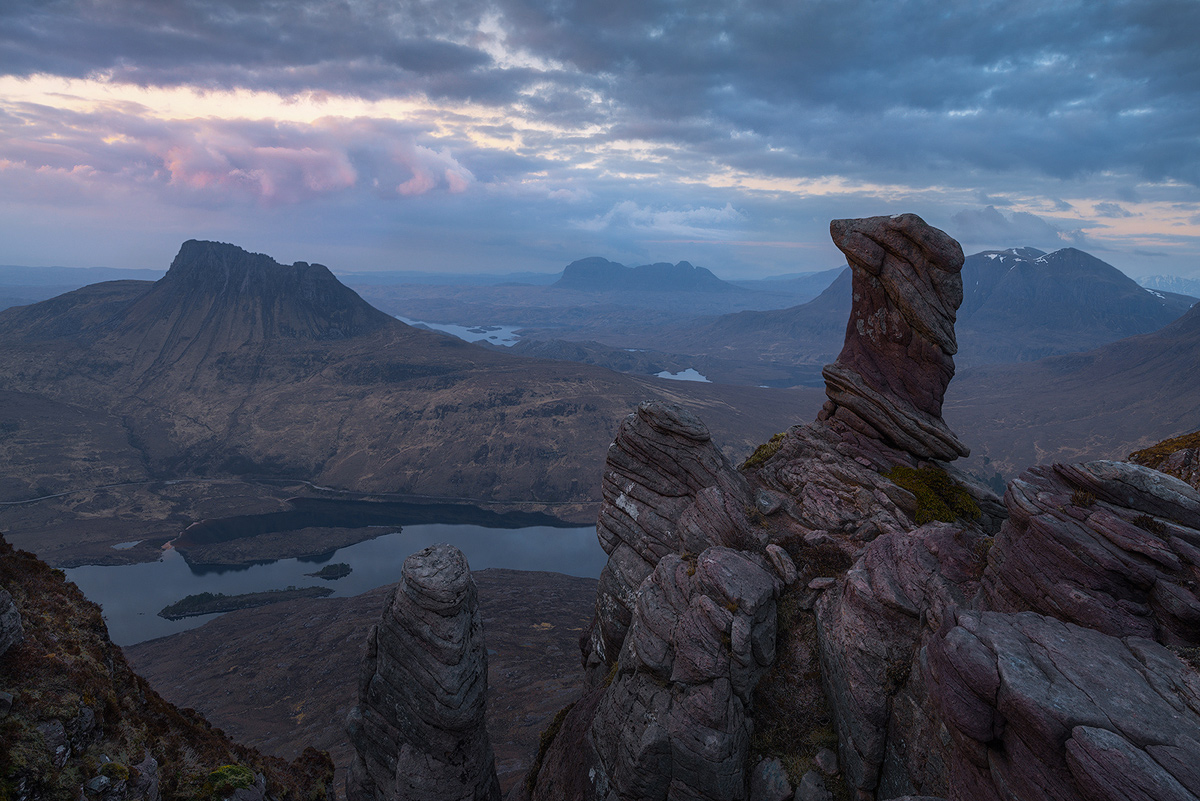 Sunset on Sgorr Tuath