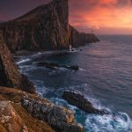 Neist Point (Rubha na h-Eist), the most westerly point on the Isle of Skye. Scotland