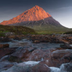 A sunrise above Buachaille Etive Mor