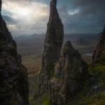 Cloudy day over the Needle on the Isle of Skye