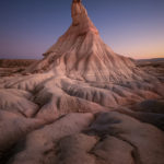Castildetierra (eng. Castle of the Earth) a symbol of continental desert of Bardenas Reales