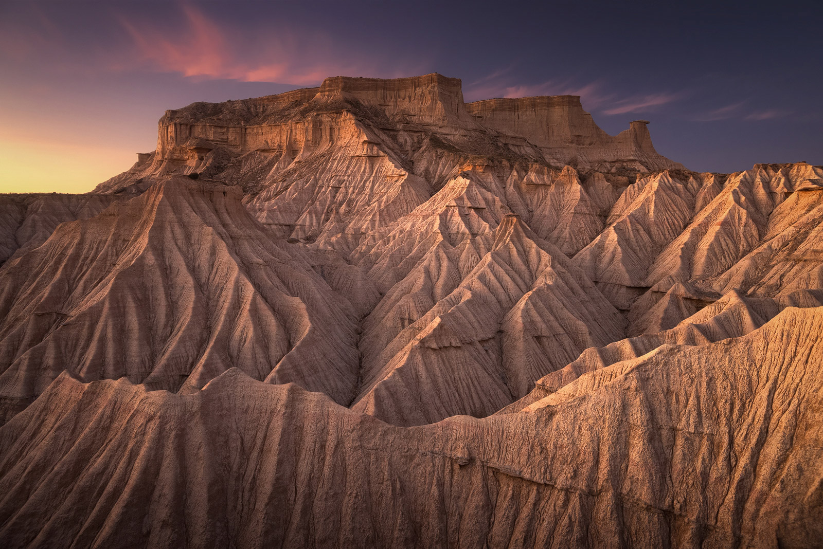 Sunset above the Bardenas Reales
