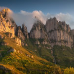 Sunset above Montserrat