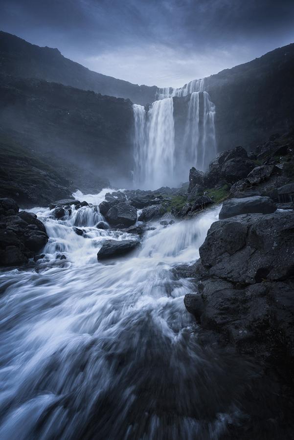 Największy wodospad Wysp Owczych - Fossa