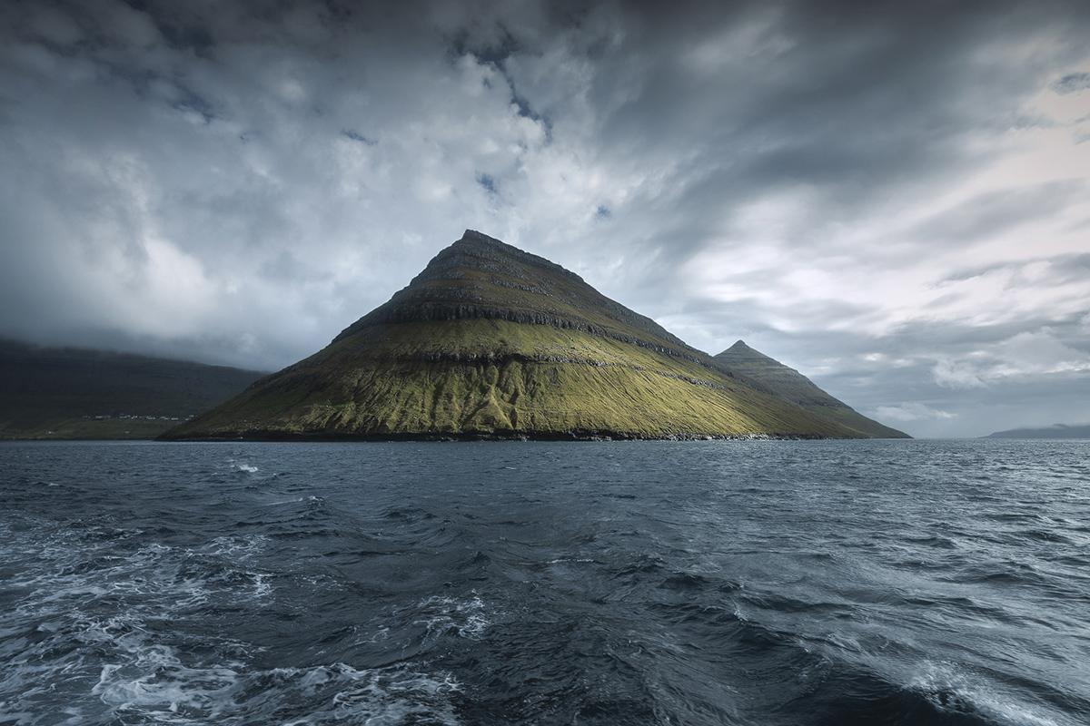 Wyspy Owcze widziane z promu