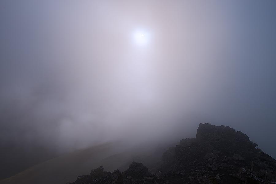 Mgła na szczycie Slattaratindur