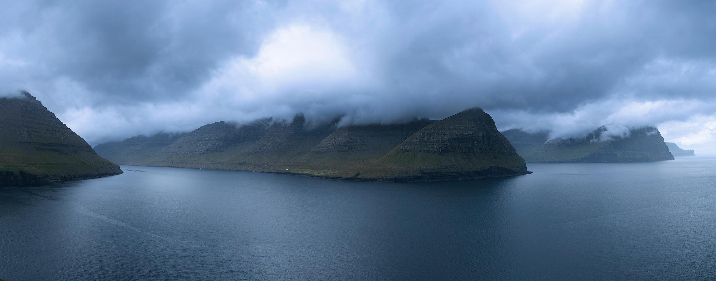 Panorama Wysp Owczych widziana z Villingardalsfjall